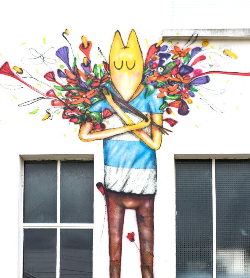 Street art fresque ville